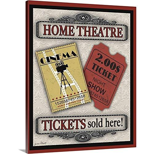 - Tickets-Light-Movie Canvas Wall Art Print, 24