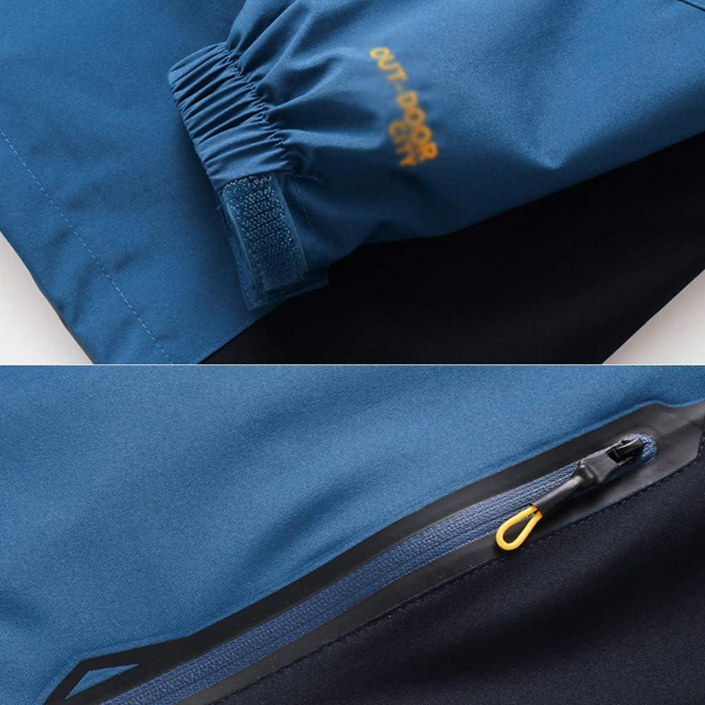 YMXYMM Mens Giacca Impermeabile Giacche Pioggia Leggera per Uomini lavorano Impermeabile Invernale Tasche Softshell Camping Cappuccio Resistenti Green