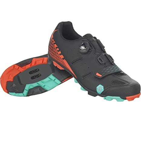 Zapatillas MTB Scott Elite Negro-Naranja Talla 44
