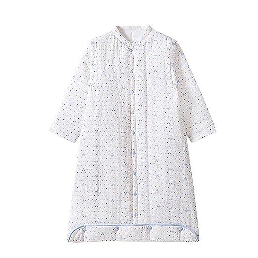 Minimoto - Saco de dormir de invierno para bebé, saco de dormir, de gasa de algodón doble, acolchado, de manga larga, con mangas desmontables, ...