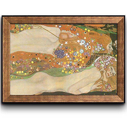 (wall26 - Water Serpents Ii Water Snakes by Gustav Klimt - Framed Art Prints, Home Decor - 24x36 inches)