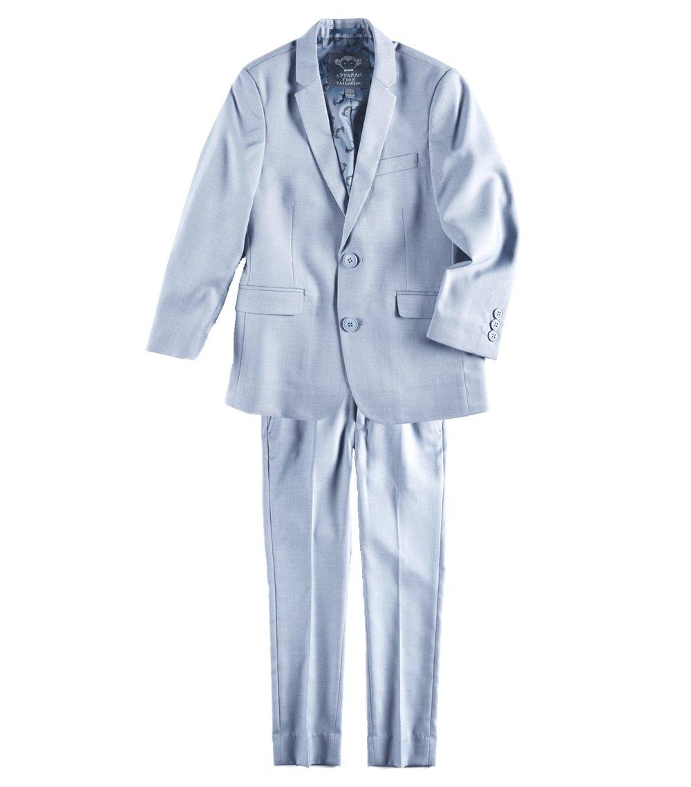 Appaman Kids Baby Boy's Two-Piece MOD Suit (Toddler/Little Kids/Big Kids) Light Blue 5 Little Kids