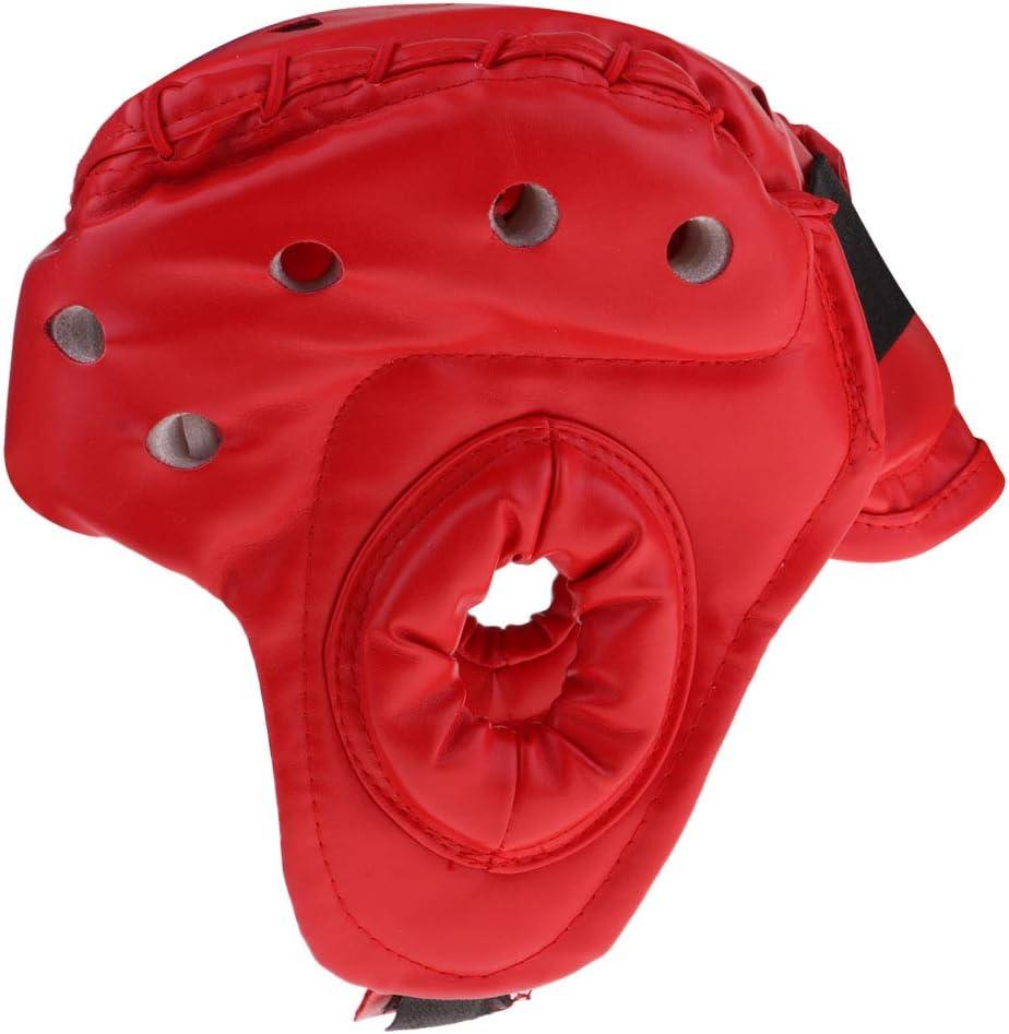 MMA Kickboxing Casco Protector de Cabeza para Deportes de Combate F Fityle Casco de Boxeo de Cuero Artificial