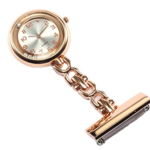 39a2ae062 Amazon.com: GORBEN Men Women Brooch Nurse Fob Watches Quartz Clip-on ...