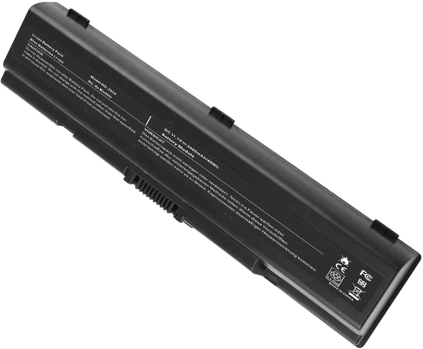 AC Doctor INC Laptop Battery for Toshiba Satellite A200 A205 A210 A215 A300 A300D A305 A500 A505 L200 L300 L305 L455D L500 L505 L550 L555 M200 M205, 5200mAh/10.8V/6-Cell