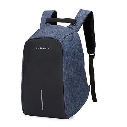 JINS&VICO anti-robo mochila para portátil, 15 impermeable anti robo mochilas para