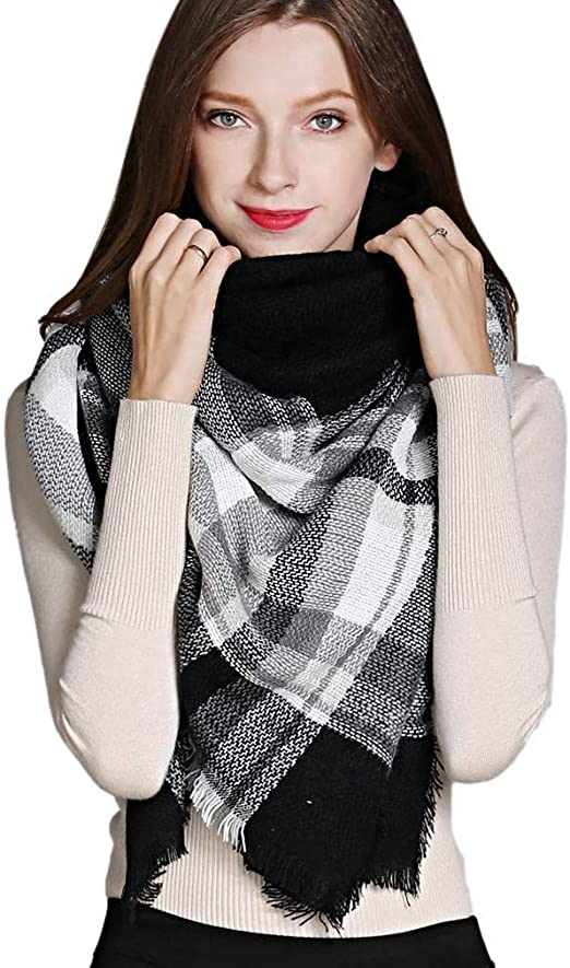 F Womens Faux Raccoon Fur Scarf Scarves Collar Hood Trim Fluffy