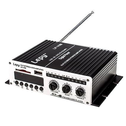 LEPY LP-V9S Hi-Fi amplificador digital estéreo con USB SD DVD CD FM