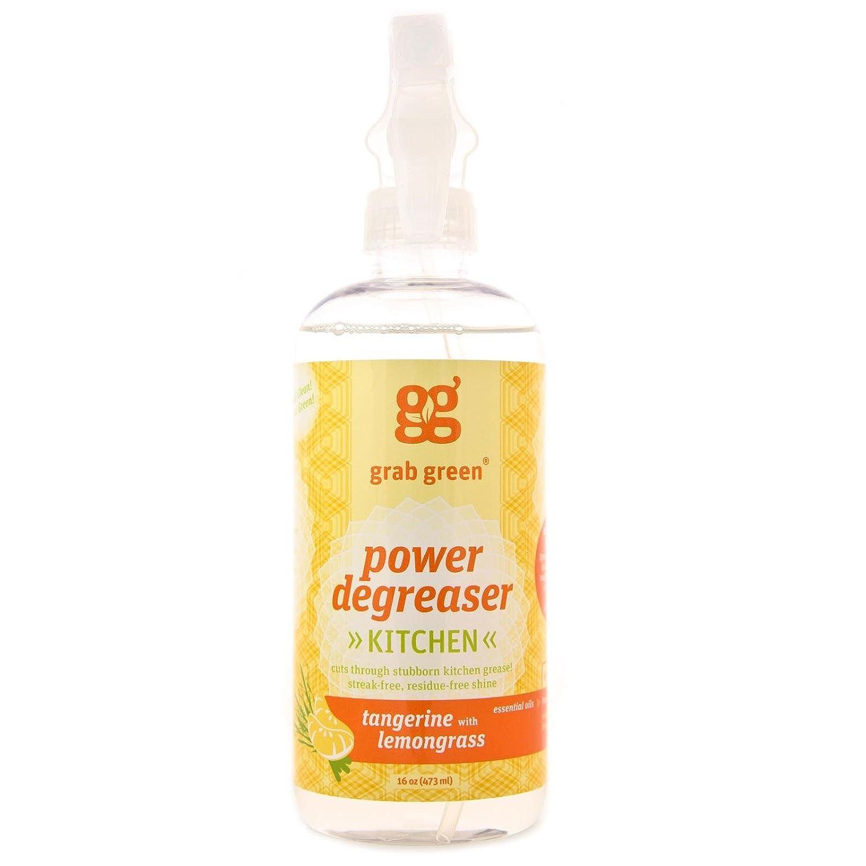 GRABGREEN Tangerine & Lemongrass Degreaser Cleaner, 16 OZ