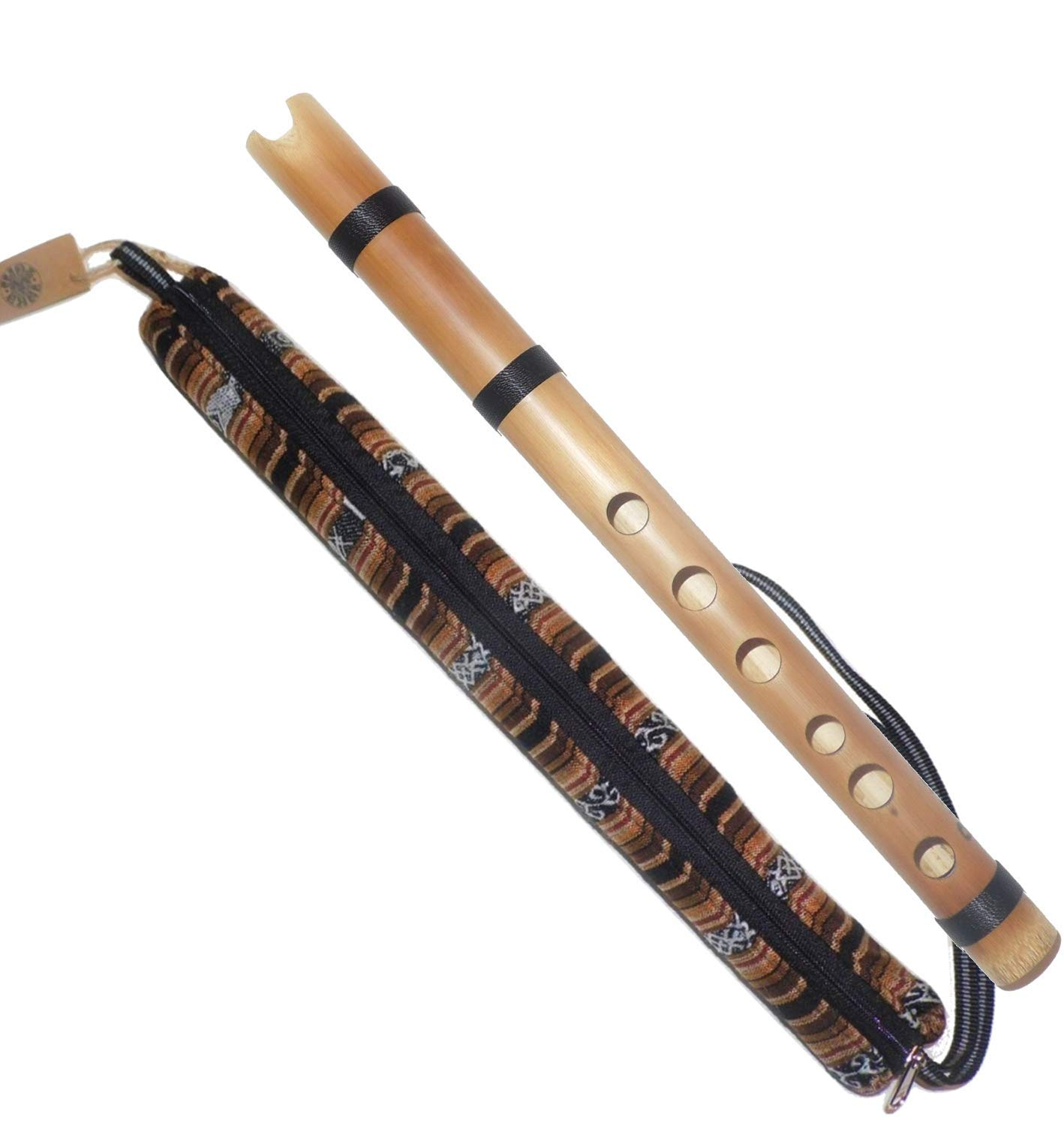 Peruvian Bamboo Quena Flute - Case & Cleaning Swab Included by Ramos