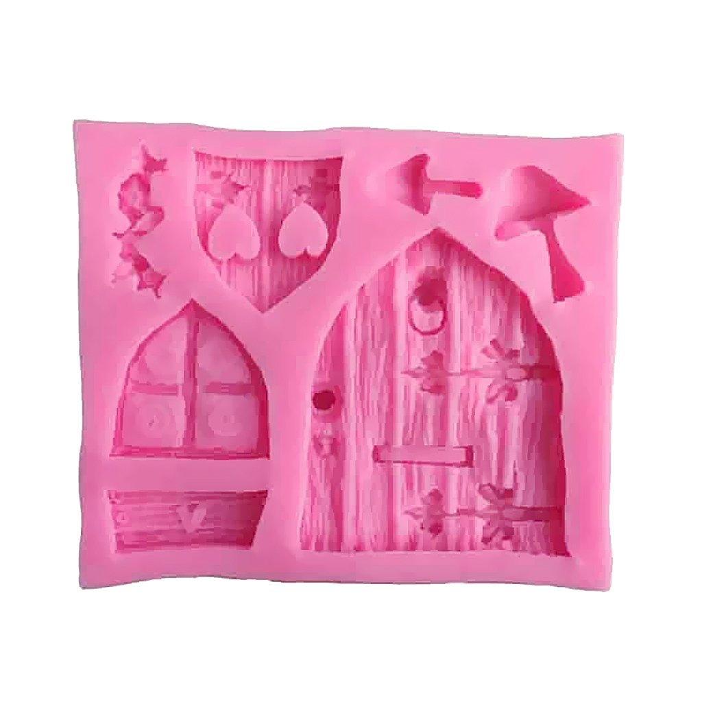 Dovewill 2pcs Silicone Cake Window Door Mould Cupcake Decorating Chocolate Mold Pink by Dovewill (Image #4)
