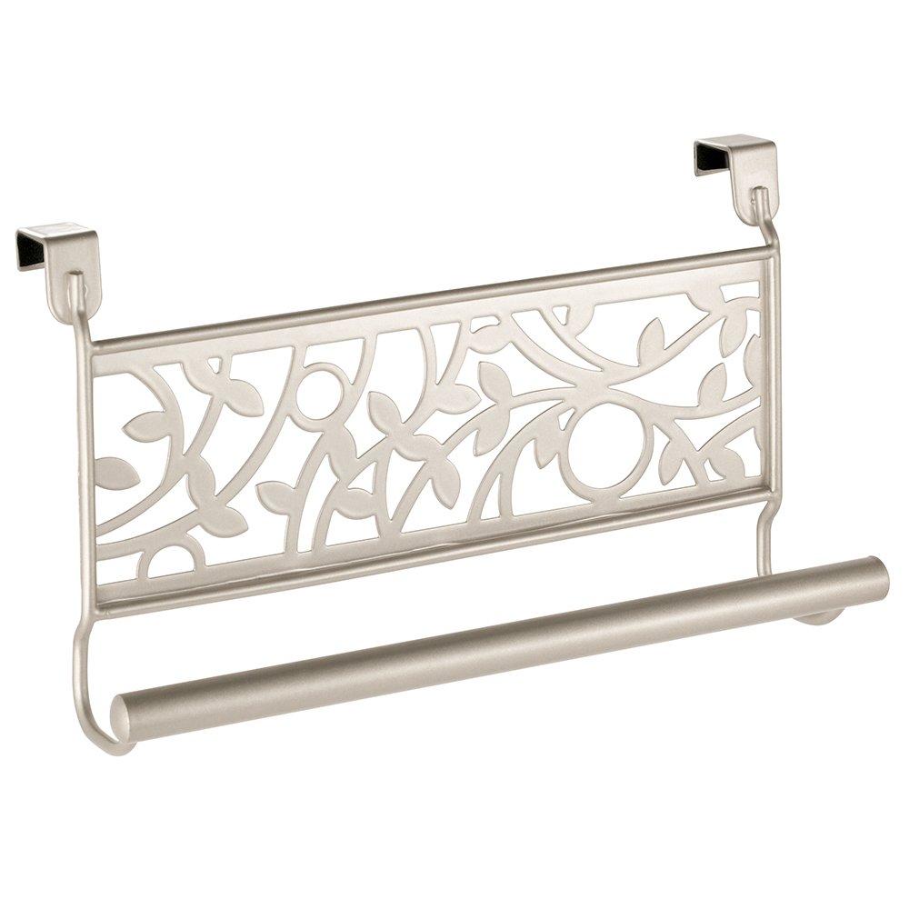 InterDesign Vine Over-the-Cabinet Kitchen Dish Towel Bar Holder - Satin 99035