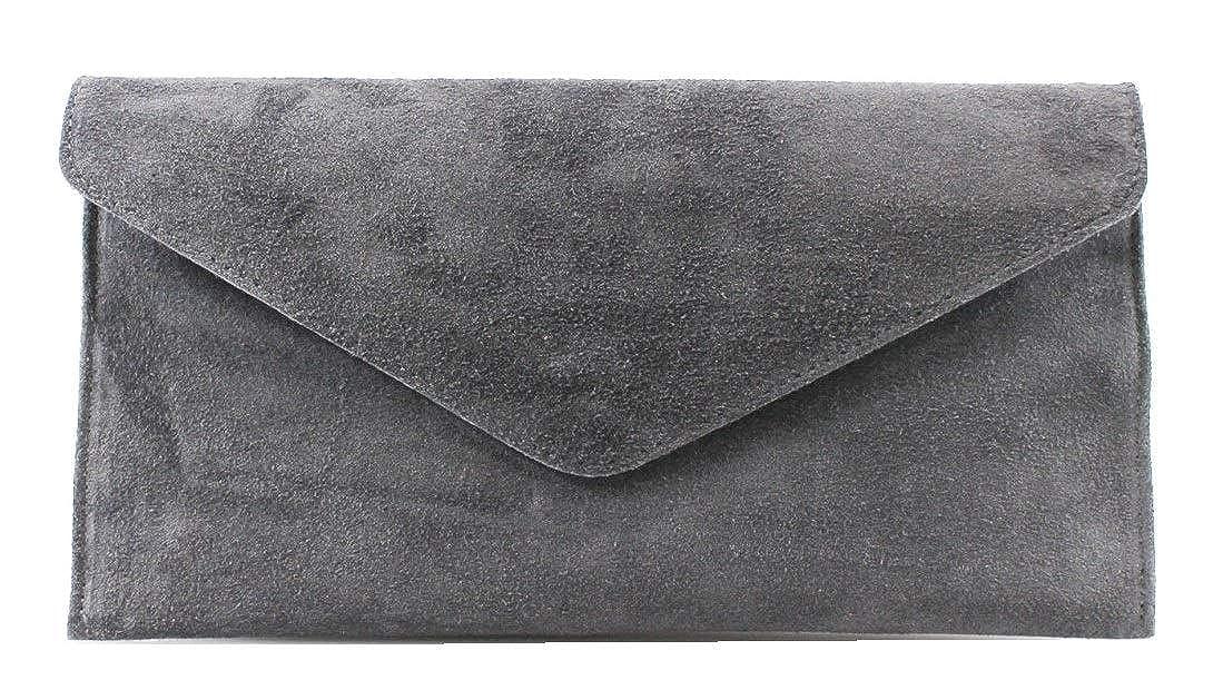 8ed83b4ee07b Large Envelope Shaped Genuine Italian Suede Clutch bag Evening bag Party bag  Wrist bag Shoulder bag Underarm bag Verapelle Genuine Suede Leather bag ( Army ...