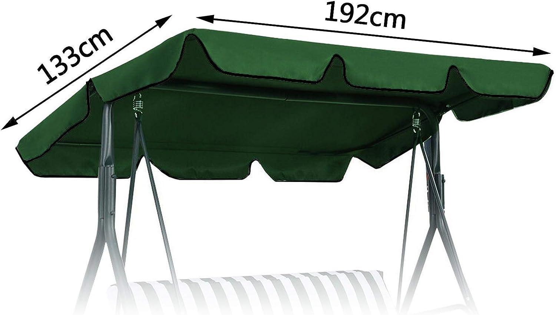Colore: Verde YINETTECH Telo di Ricambio per panchina a Dondolo 169 x 115 cm 197 x 110 cm 192 x 133 cm Gr/ün 192x133cm