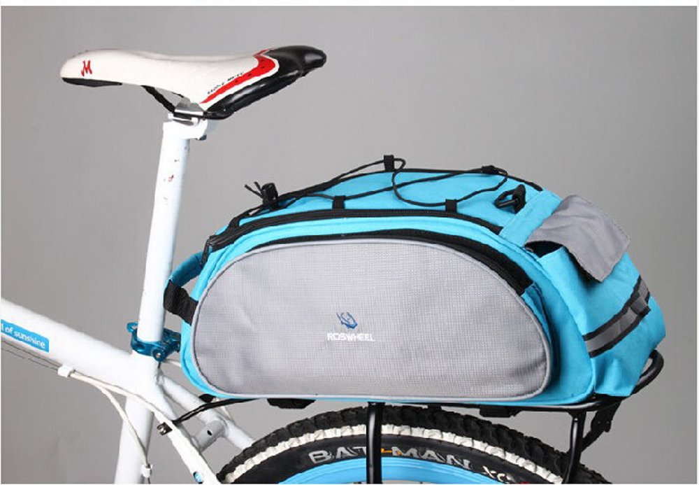 Bicycle Bag Multifunction 13L Bike Tail Rear Bag Saddle Cycling Bolso Manillar Mala Viagem Bolsa Selim Bicicleta (Blue) China