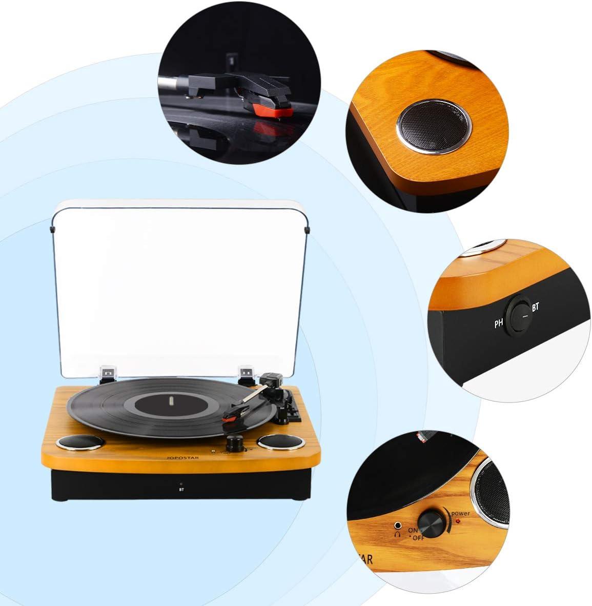 Amazon.com: JOPOSTAR - Tocadiscos con Bluetooth, reproductor ...