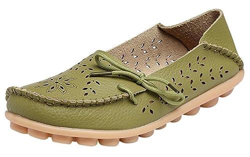 Auspicious beginning Mocasines ahuecados Mocasines Zapatos Casuales Botas para Mujeres: Amazon.es: Zapatos y complementos