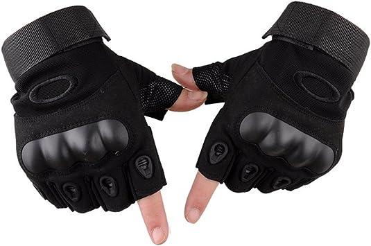 guantes bicicleta moto demi-doigt mitones resistente a los rasguños ...