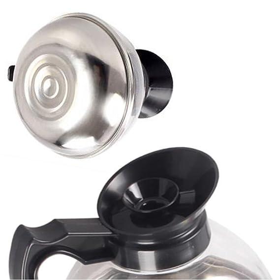 Adesugata Kaffee Krug,Edelstahl unten Hot Teller Boden Tea Pot Restaurant Glas Filter Kaffee Beheizte Dekanter