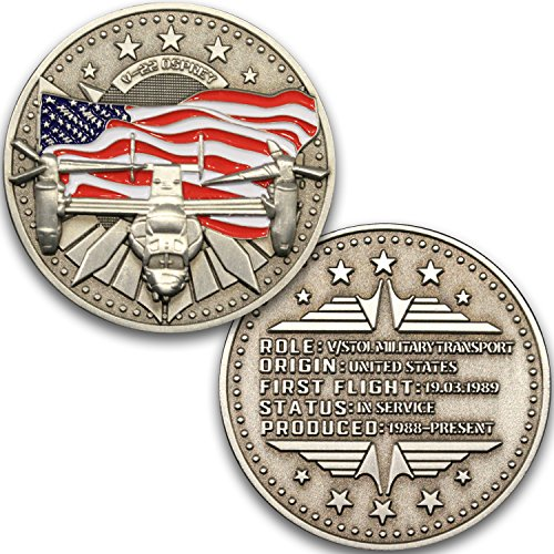 Aircraft Challenge Coin V-22 Osprey Plane and Helicopter for sale  Delivered anywhere in USA