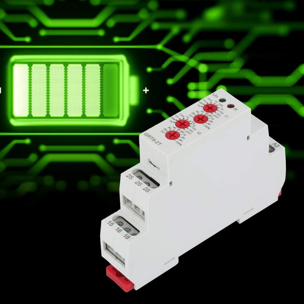 Time Delay Relay A230 GRT8-2T Mini Rail Mount Double Delay Relay with LED Indicator AC 0.7-3VA//DC 0.5-1.7W