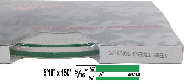 "Auto Customizing Dual Pinstripe 1//8/"" Stripe, 1//8 Gap, Then 1//16/"" Stripe Universal TFX 0005058 5//16 x 150 - 058-Peacock Blue"