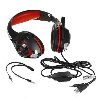 Hupoop - Auriculares Gaming Gaming Gaming para PC con micrófono ...