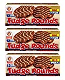 Little Debbie Individually Wrapped Fudge Rounds (12 count) BIG 24.10 Box - Pack of 3