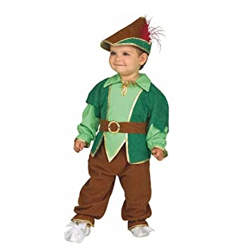 Bebé del traje de Peter Pan, el tamaño 80/86, Kinderfasching muchacho juego del sombrero