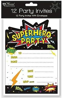 Premium Quality Superhero Invites 30 Children S Birthday Party