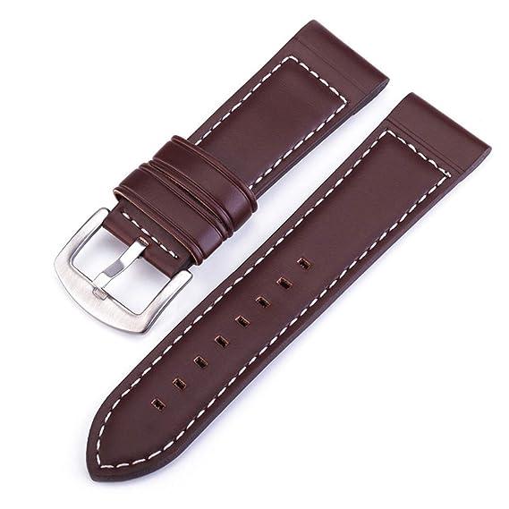 Amazon.com: Leather Watchband Men Women Watch Band Wrist ...