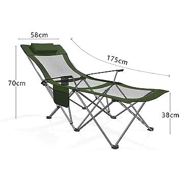 Amazon.com: ASDFGH Silla reclinable portátil para exteriores ...