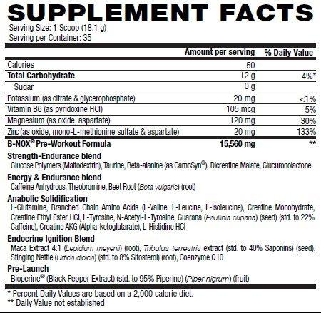 Betancourt Nutrition B-Nox Pre Workout Drink Mix, 35 servings