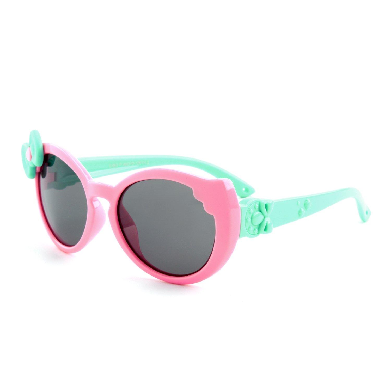 GQUEEN Occhiali da Sole Flessibili in Gomma Farfalla Polarizzati per Ragazzi Ragazze e Bambini dai 3 ai 7 anni, ET60 UK-S8GQ60-1