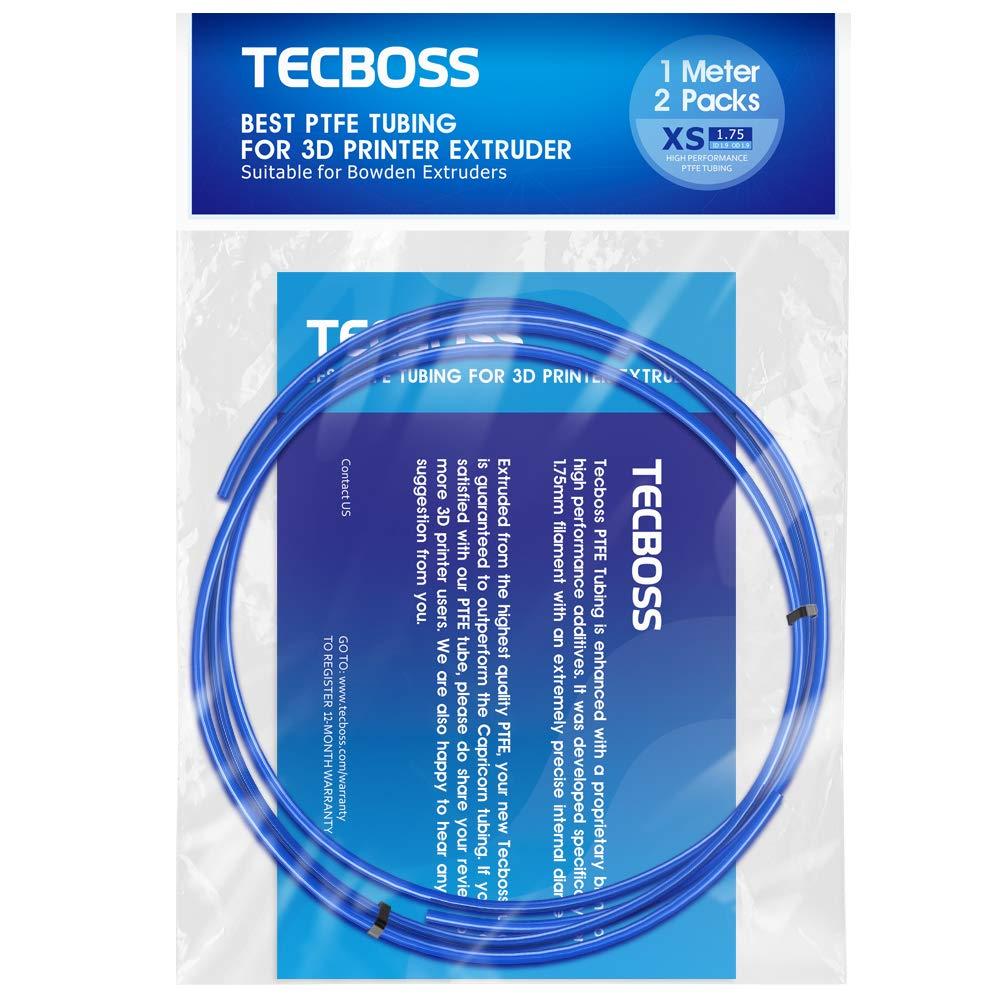 Tubo PTFE Teflon 1mt. Filamento 1.75mm Tecboss [2un.]