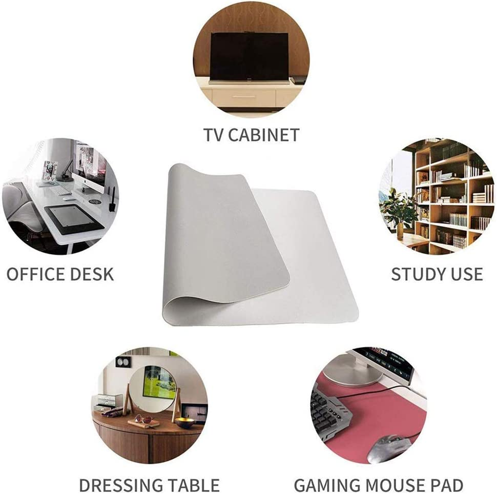 Extended Thick Mouse Pad Large Gaming Mouse Pad Waterproof Non-Slip Keyboard Pad No Curling Neat Office Desk Mat Leather 71x35inch Color : Black, Size : 180x90cm