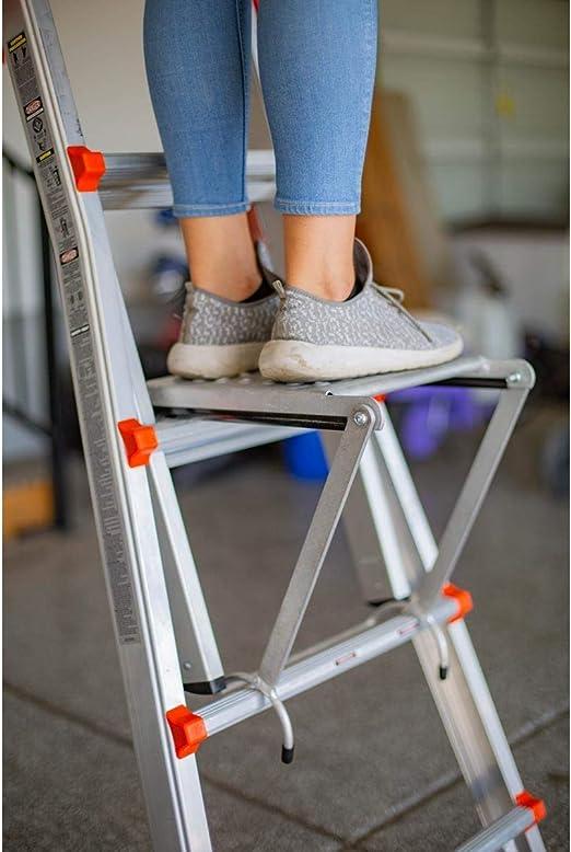 Bicaquu Plataforma de Escalera Escalera m/óvil de Acero Soporte de Trabajo Plataforma de Trabajo Escaleras peque/ñas Gigantes para Trabajadores Transporte Trabajador Transporte dom/éstico