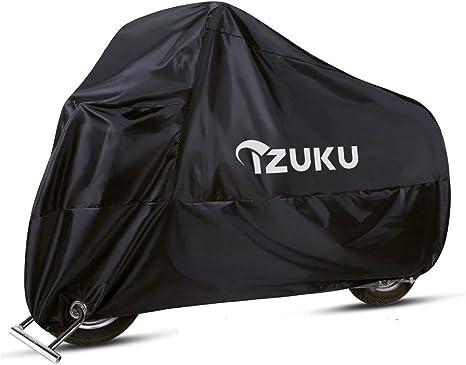 OSAN Telo Copri Moto Motociclo Impermeabile Antipolvere Anti UV Traspirante Universale 265x105x125cm Nera/&Viola Coprimoto
