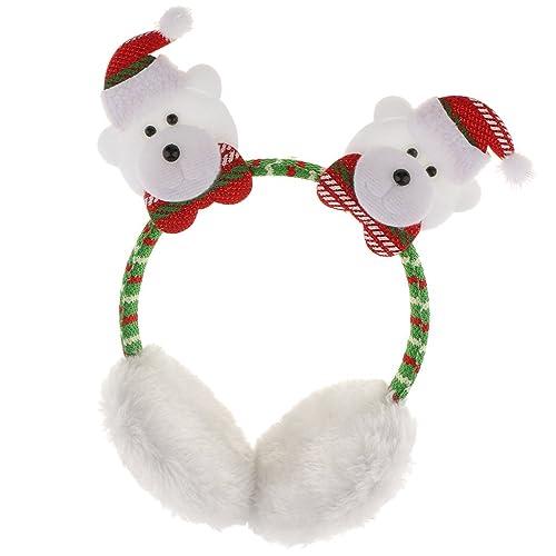 Sharplace Paraorecchie Peluche Per Inverno Comodo Caldo Babbo Natale Renna Pupazzo Di Neve Regalo Festa Bambini