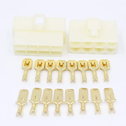 8 Way Electrical Connector Kit With 6.3mm Terminals