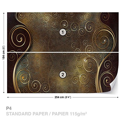 Abstract Pattern Swirls Wall Mural Photo Wallpaper Room Décor (2830WS)