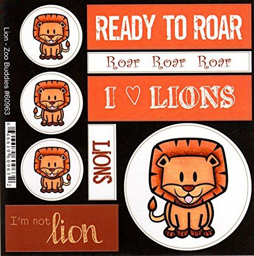 (Lion Zoo Buddies Scrapbook Stickers (60963))