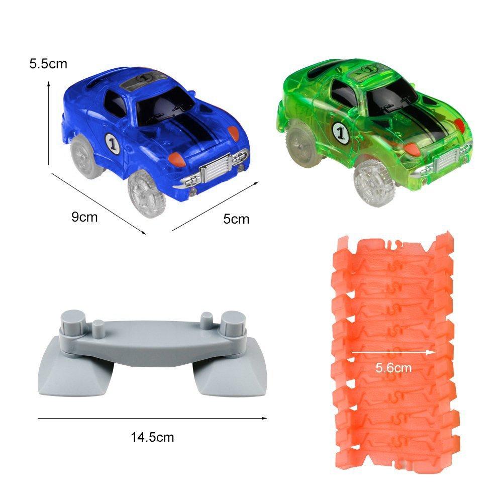 Pista cars luminosa macchine 240 pcs giocattolo bright auto