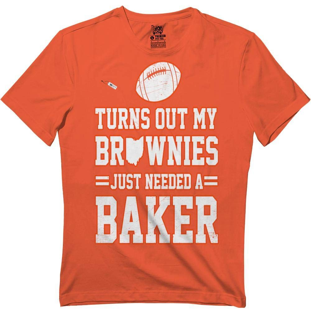 Brownies Just Needed A Baker Funny Cleveland Football Lovers Tshirt