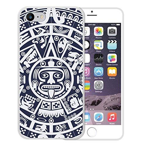 iPhone 8 Hülle, WoowCase Handyhülle Silikon für [ iPhone 8 ] Aztekisches Kalendar Handytasche Handy Cover Case Schutzhülle Flexible TPU - Transparent