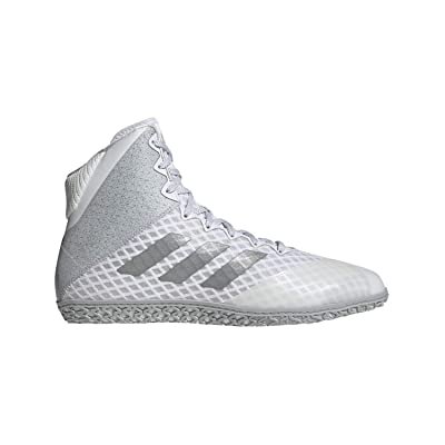 adidas Mat Wizard Hype White/Silver Wrestling Shoes 15: Sports & Outdoors