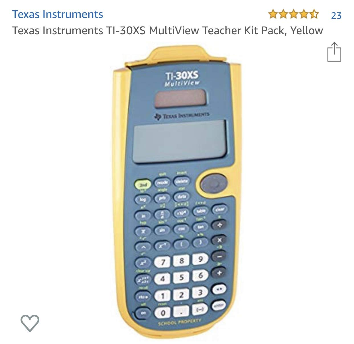 Texas Instruments TI-30XS Multiview Scientific Calculator by Texas Instruments