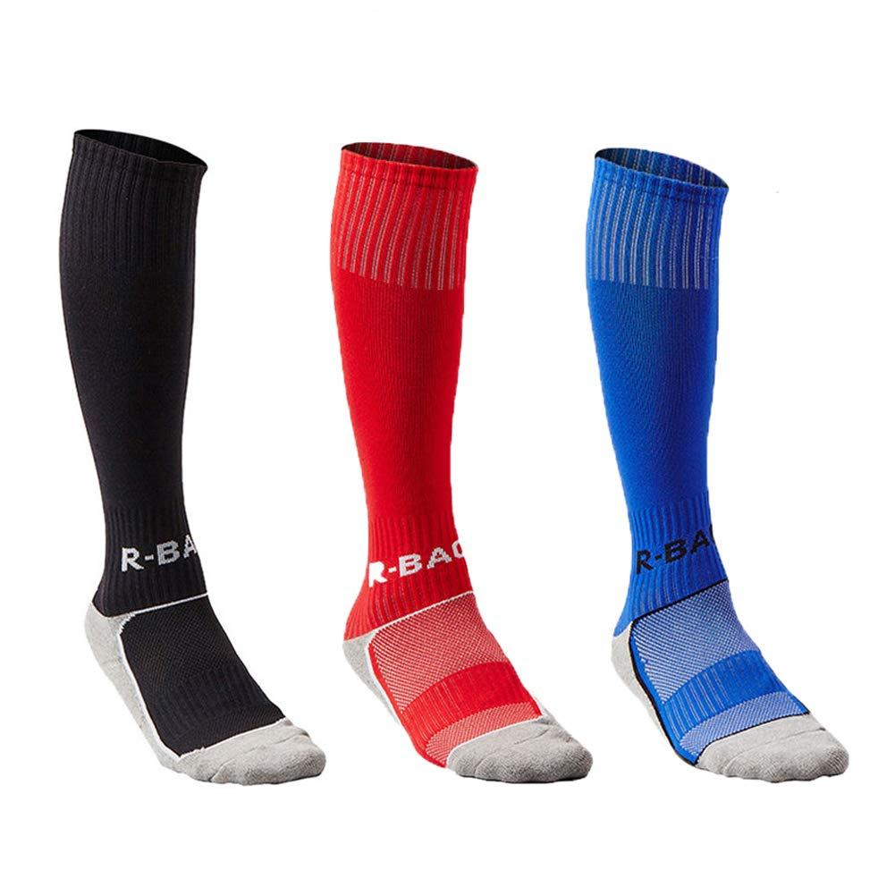 Uniprime Kids Long Soccer Socks Sports Team Tube Compression Stockings Knee High Football Socks