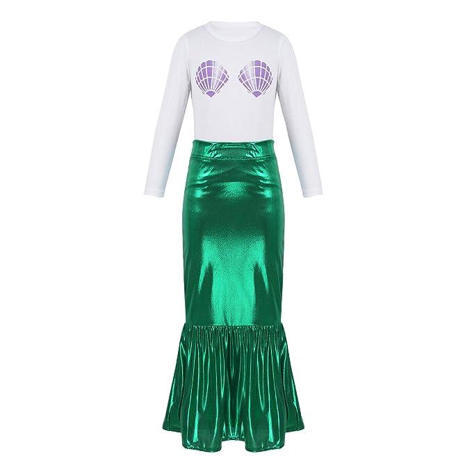 Agoky Disfraz de Sirena para Niña Cosplay Traje de Princesa ...