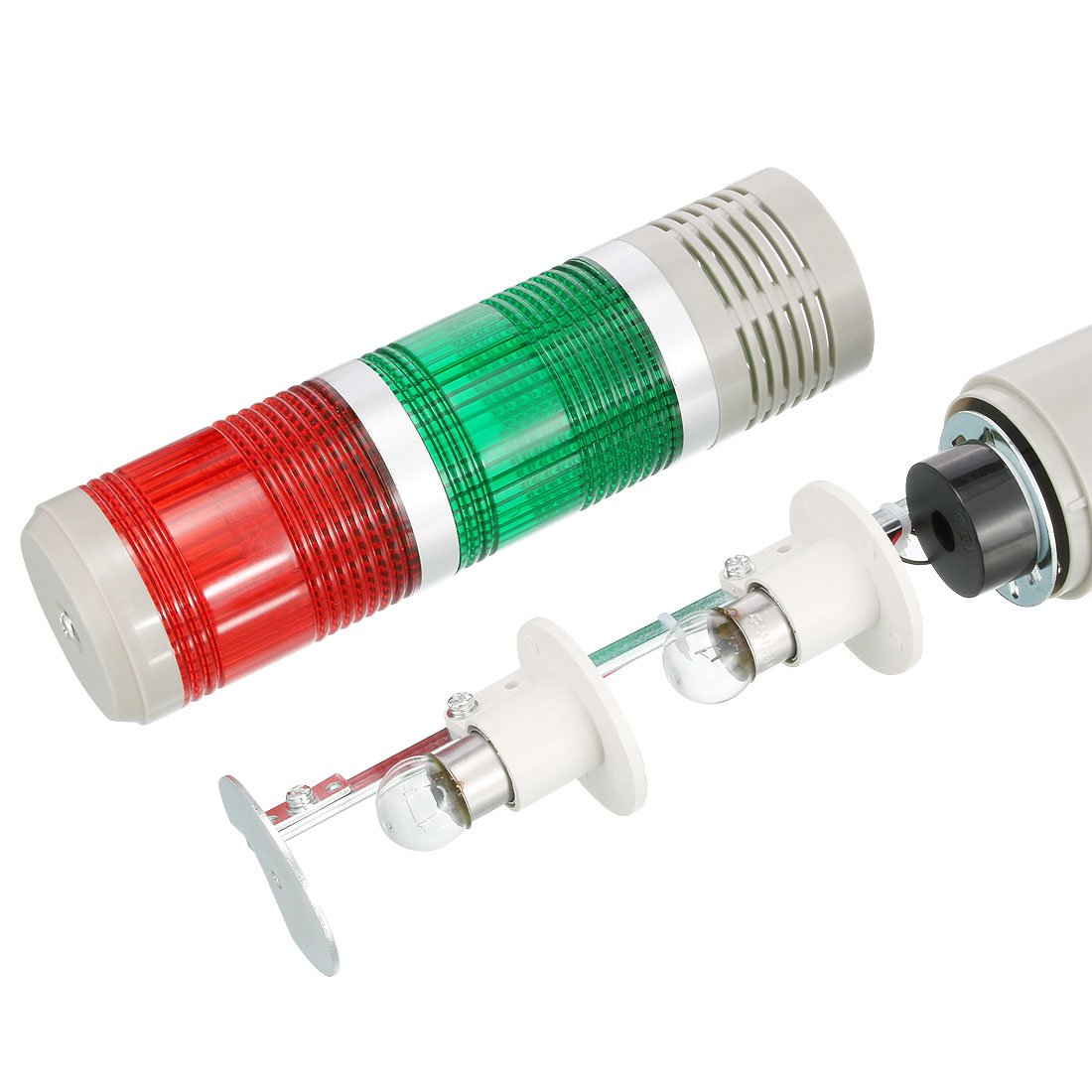 uxcell/® Warning Light Bulb Constant Bright Signal Alarm Tower Light DC 24V 10W Red Green TB50-2T-E